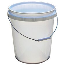 5 Gallon White Plastic Pail 50640-250001