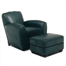 Broadway Leather Chair and Ottoman