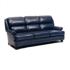 Hi Back Pub Leather Sofa