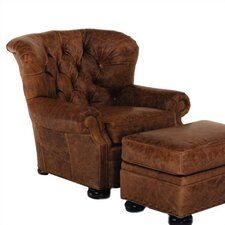 Stratford Leather Chair and Ottoman
