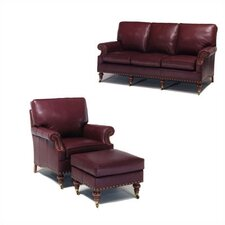 Lincoln Leather Sofa and Chair Set