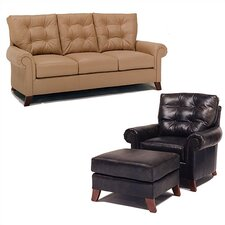 Alexis Leather Sofa and Chair Set