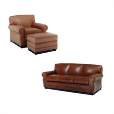 Jordan Leather Sofa and Chair Set