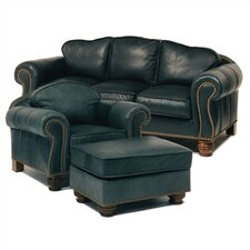 Carlton Leather Sofa and Chair Set