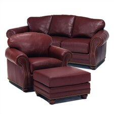 Addison Leather Sofa and Chair Set
