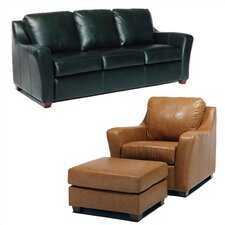 Edwardo Leather Sleeper Sofa and Chair Set
