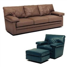 Manhattan Leather Sleeper Sofa and Chair Set