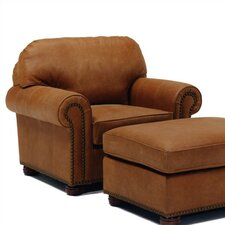 Huntington Leather Chair and Ottoman