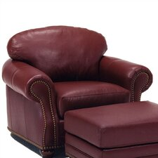 Addison Leather Chair and Ottoman