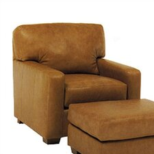 Maison Leather Chair and Ottoman