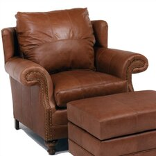 Cartwright Leather Chair and Ottoman