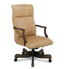 Plain High-Back Leather Swivel / Tilt Office Chair