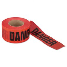 "Barrier Safety Tape - 3"" x 1000' Red Danger Do Not Enter"