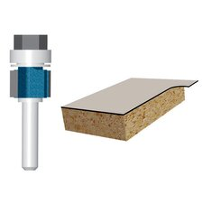 "<strong>Bosch Power Tools</strong> 3/8"" Laminate Flush Trim Router Bit Double Flute  85269M"