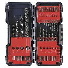 "Piece 1/16"" - 3/8"" 135°, Black Oxide, Split Point, Drill Set With Blow Molded Case"