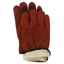 Pile Lined Split Leather Gloves