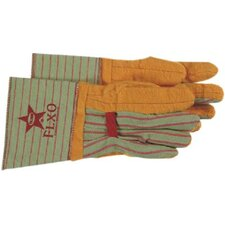 Flxo® Chore Gloves - golden brown double palmturtleneck