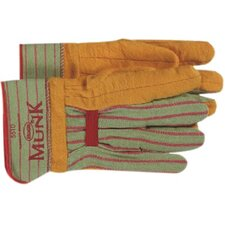 Munk® Chore Gloves - jumbo monk golden browndouble palm w/rubberize