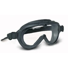 Rubber Industrial Goggle™ Indirect Vent Goggles With Black Frame And Clear Fogless Lens