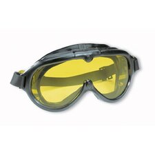 Rubber Industrial Goggle™ Non-Vented Goggles With Black Frame And Clear Lens