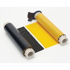 "X 200' Two-Color Black/Yellow 15"" Long Paneled Industrial Grade Ribbon For PowerMark® Sign And Label Maker"