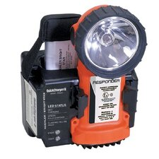 Division 1 Flashlight w/ Ni-Cad Battery Pack & QuickCharger II w/ 120V AC & 12-24V DC Plugs (Orange)