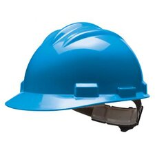Series Blue Safety Cap With 4 Point Ratchet Headgear And Cotton Browpad
