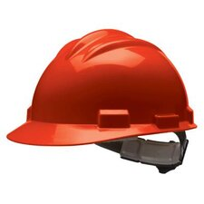 Series Red Safety Cap With 4 Point Ratchet Headgear And Cotton Browpad