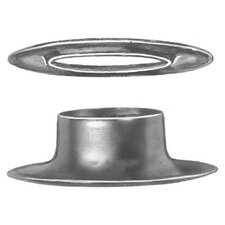 "Plain Rim Grommets and Washers - 1/2"" brass grommet & plain washer"