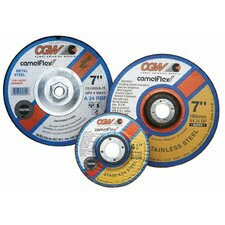 "Depressed Center Wheels- 1/4"" Grinding, Type 27 - 5x1/4x7/8 a24-r-bf steelt27 dp ct whl"