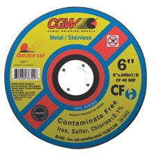 Quickie Cut™ Contaminate Free Cut-Off Wheels - 6x.045x7/8 t1 wa36-t-bfcf quickie cut