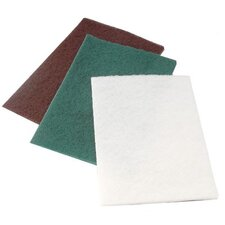 "Non-Woven Hand Pads - light duty white 6""x9"" hand pad 10/pk"