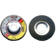 Flap Discs, Z3 -100% Zirconia, Aluminum Backed - 4 1/2 x 5/8-11  z3-80 t29 reg  za alu flap disc