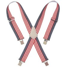 "Suspenders - red white & blue 2"" widework suspenders"