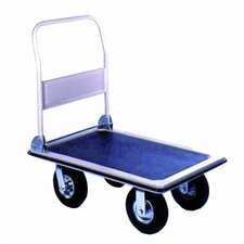 Pneumatic Folding Handle Platform Dolly
