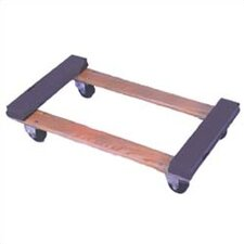 Open Deck Wood Dolly with Rubber Ends