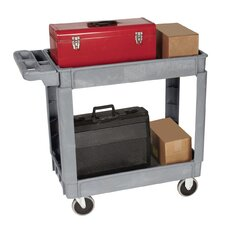 "35.5"" Plastic Shelf Cart"