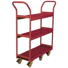 <strong>Wesco Manufacturing</strong> Narrow Aisle 3 Shelf Cart