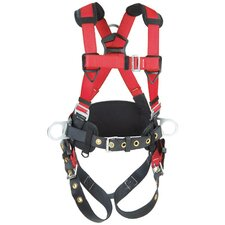Medium/Large PRO™ Harness With Back And Side D Rings, Hip Pad And Belt And Tongue Buckle Legs