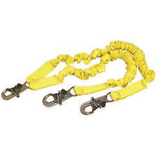 ShockWave2™ 1 Tie-Off Shock Absorbing Lanyard With Self Locking Snap Hooks At Center And At Leg Ends