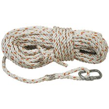 X 100' Nylon Rope Lifeline With Carabiner