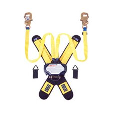 "1 Tie-Off Self Retracting Lifeline With 2 Each Steel Self Locking Snap Hooks, 1/4"" Gate Opening, Delta Comfort Pad And 2 Each Lanyard Keepers"