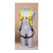 Size Standard Vest Style Full-Body Harness With Tongue Buckle Leg Straps, Back And Side D-Rings