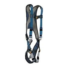 Blue/Silver Exofit™ Vest Style Harness With Back D-Ring And Quick Connect Buckles