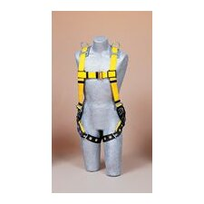 No-Tangle™ Universal Yellow Full Body Vest Style Harness With Back D-Ring, Tongue Buckle Leg Straps And Shoulder Retrieval D-Rings