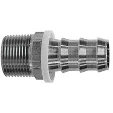 Barbed Push-On Hose Fittings - 3/8 push on x 1/4 nptf m