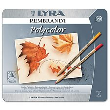 Lyra Artist Colored Woodcase Pencils, 24 Per Pack