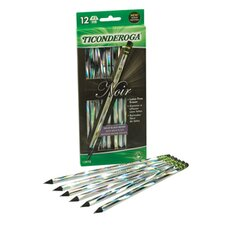 Ticonderoga Noir Holographic Woodcase Pencil, 12 Per Pack