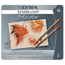 Lyra Artist Colored Woodcase Pencils, 12 Per Pack