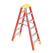6' Fiberglass Twin Step Ladder T6206